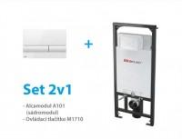 Fotogaléria: SET inštalačného WC modulu Alcaplast A101 / 1200 a ovládacieho tlačidla - AKCIA