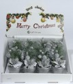 Dekorace stolní květináč 15 cm stříbrný 450422