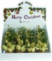 Dekorace stolní květináč 15 cm zlatý 450423