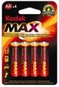 Baterie tužková alkalická Kodak MAX blistr 1710063