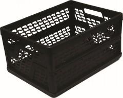 Přepravka skládací 48x35x24 cm plast černá 2510002