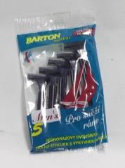 Strojek holící pánský 2 břitý - 5 ks 3900232