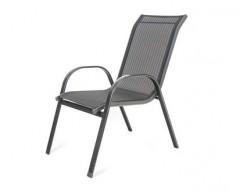HAPPY GREEN Židle zahradní RAMADA 55.5 x 71 x 95.5 cm, antracit pruh