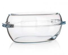 BANQUET Pekáč skleněný oválný s víkem 4,9l Caseo