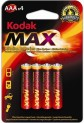 Baterie mikrotužka alkalická Kodak MAX blistr R3 1710064