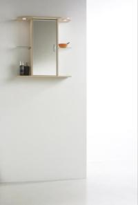 TOSCANA koupelnová skříňka se zrcadlem 84141 javor/bílá