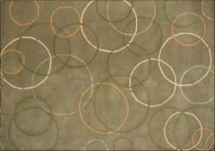 Vlněný koberec DESIGN Silk Rounds d-03, 200x300 cm