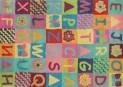 Bavlněný koberec DESIGN Kids Alphabet d-05, 140x200 cm