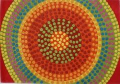 Vlněný koberec DESIGN Happy Dots d-11, 200x300 cm