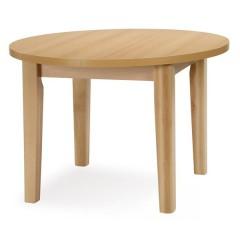FIT 110 cm jídelní stůl KULATÝ ROZKLÁDACÍ