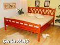 BEA-07 TA MAX dřevěná postel smrk vč. matrace a roštu
