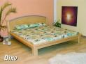 DI-07 NO dřevěná postel s kovovými prvky