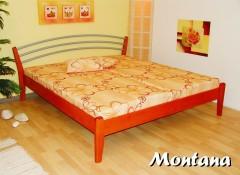 MONTANA-B dřevěná postel SMRK vč. matrace a roštu