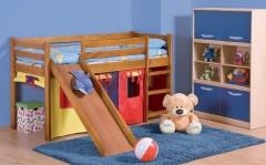 NEMO PLUS postel z masivu se skluzavkou