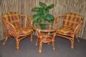 Ratanová sedací souprava Bahama cognac 2+1 okrová