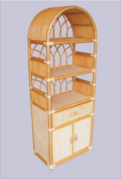Ratanová skříňka zásuvka dvířka světlý med 6840
