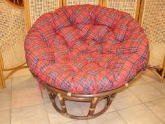 Ratanový papasan 110 cm tmavý červený CZ