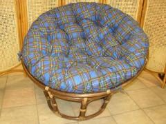 Ratanový papasan tmavý 110 cm modrý CZ