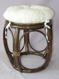 Taburetka široká bílá Brown
