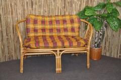 Ratanová lavice Bahama medová polstr okrový