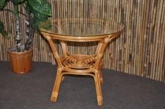 Ratanový stolek Bahama se sklem
