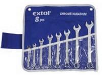 Klíče otevřené/očkové Extol 7-19 mm