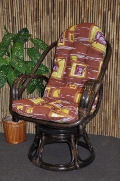 Ratanové křeslo Havai brown polstr hnědý list