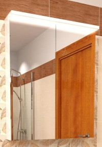 Zrcadlová skříňka s osvětlením IDEA LED 80 bílá vysoký lesk