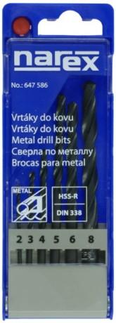 Sada vrtáků do kovu HSS-R Narex 6 dílů