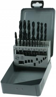 Sada vrtáků do kovu HSS-R Narex 19 dílů