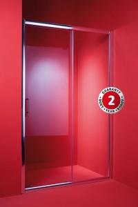 Dveře do sprchového koutu ELCHE 140 x 195, sklo čiré