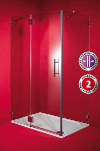 Sprchový kout skleněný PILAS 80 x 100 x 195 cm, pravý