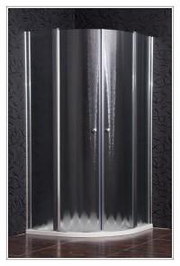 Sprchová zástěna čtvrtkruhová SMART sklo chinchila
