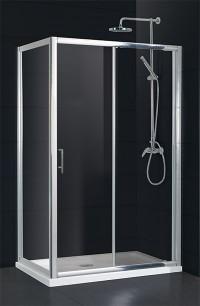 Obdélníková sprchová zástěna ELCHE II KOMBI 140 x 195 cm dveře sklo čiré