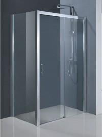Obdélníková sprchová zástěna ESTRELA KOMBI L/P 140 x 195 cm dveře sklo čiré