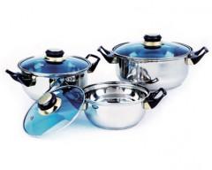 Sada nerezového nádobí CELESTE, 6 ks, barva modrá