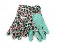 Rukavice záhradné dámske, bodky na dlani, veľkosť: 9, materiál bavlna