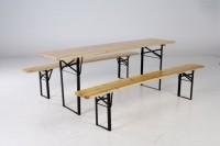 Pivní set stůl 50 cm š + 2 lavice