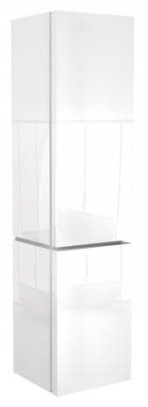 Postranní vysoká skříňka s košem na prádlo KOLO Varius bílá