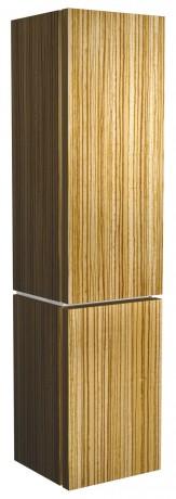 Postranní vysoká skříňka s košem na prádlo KOLO Varius zebrano