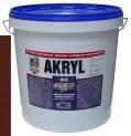 tmavo hnedá univerzálna farba HET Akryl mat - 12 kg
