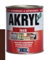 tmavo hnedá univerzálna farba HET Akryl lesk - 12 kg