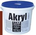 červenohnedá akrylátová farba HET Akryl BET - 5 kg