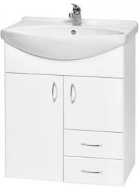 Závěsná skříňka s umyvadlem PLUTO LUX SZ 65