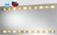 Obdélníkové zrcadlo KYPR s halogenovým osvětlením 600 x 1200 mm