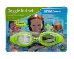 SPORTWELL Plavecký set dětský - obsahuje plavecké brýle, ucpávky do uší, klip na nos