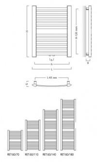 Koupelnový radiátor RETTO RADRET507012