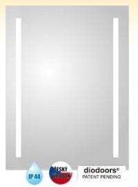 Obdélníkové zrcadlo LABE s LED osvětlením 600 x 1200 mm