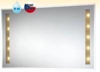 Obdélníkové zrcadlo KRÉTA s halogenovým osvětlením 1200 x 600 mm