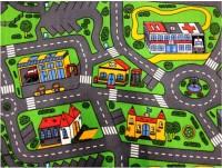 Dětský koberec silnice Rally 80 x 120 cm